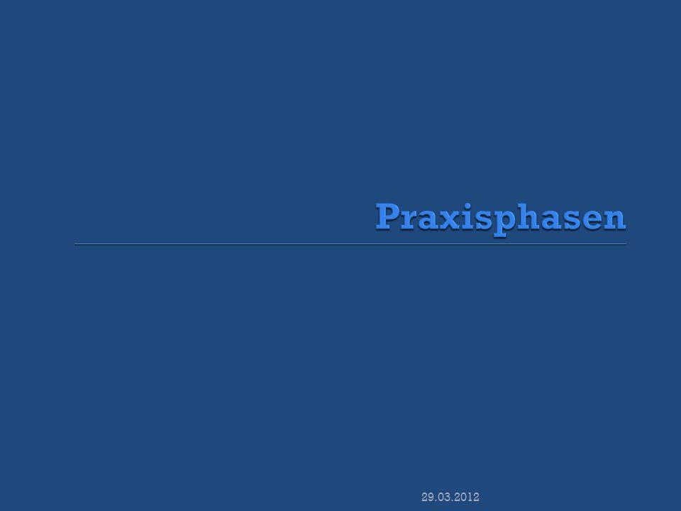 Praxisphasen 29.03.2012