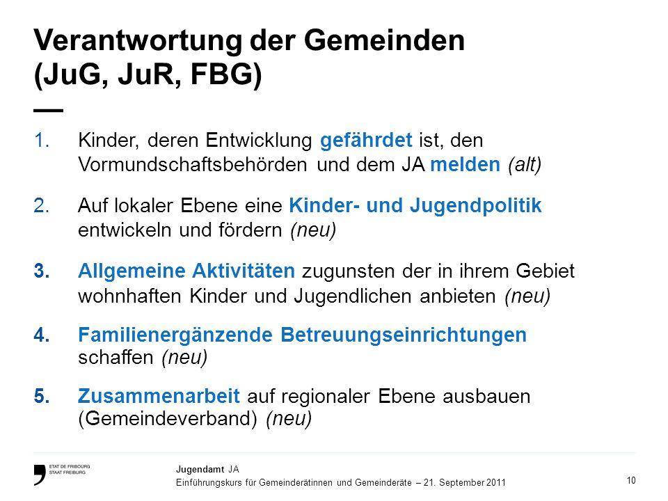 Verantwortung der Gemeinden (JuG, JuR, FBG) —
