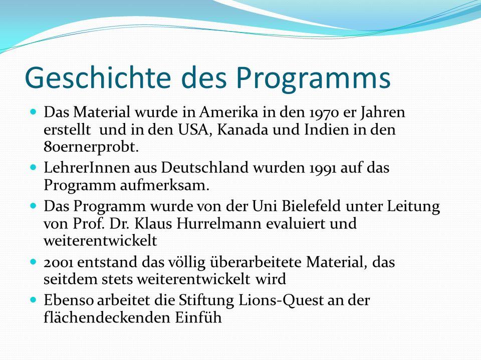 Geschichte des Programms