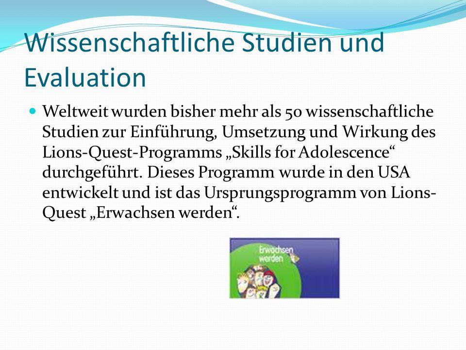 Wissenschaftliche Studien und Evaluation
