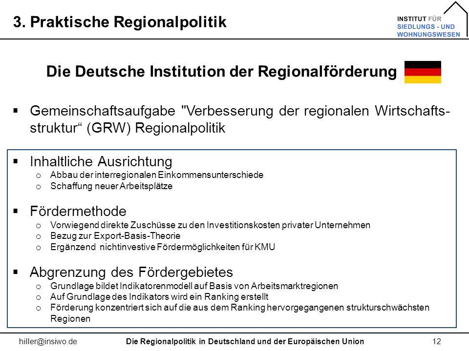 Die Deutsche Institution der Regionalförderung