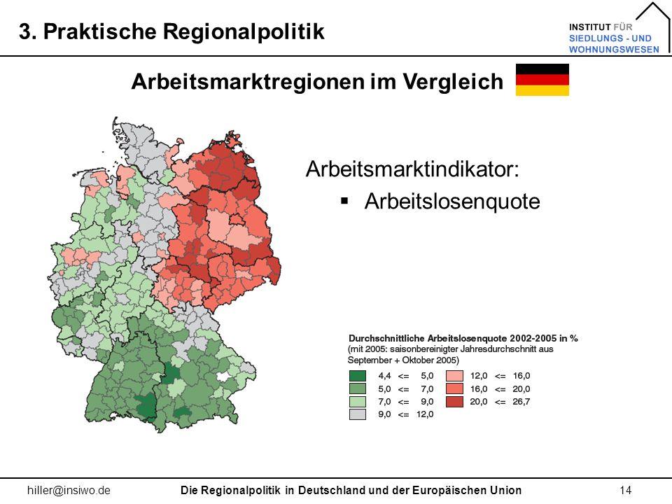 Arbeitsmarktregionen im Vergleich