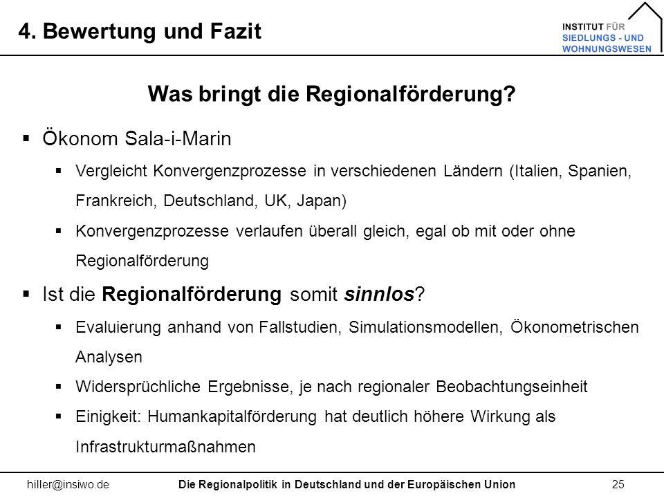 Was bringt die Regionalförderung