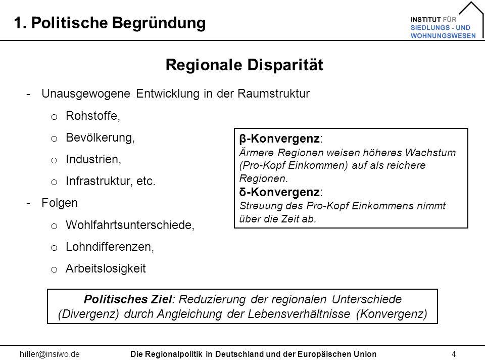 Die Regionalpolitik in Deutschland und der Europäischen Union