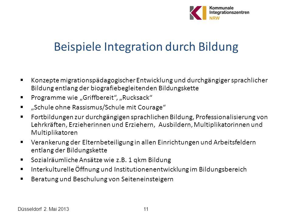 Beispiele Integration durch Bildung
