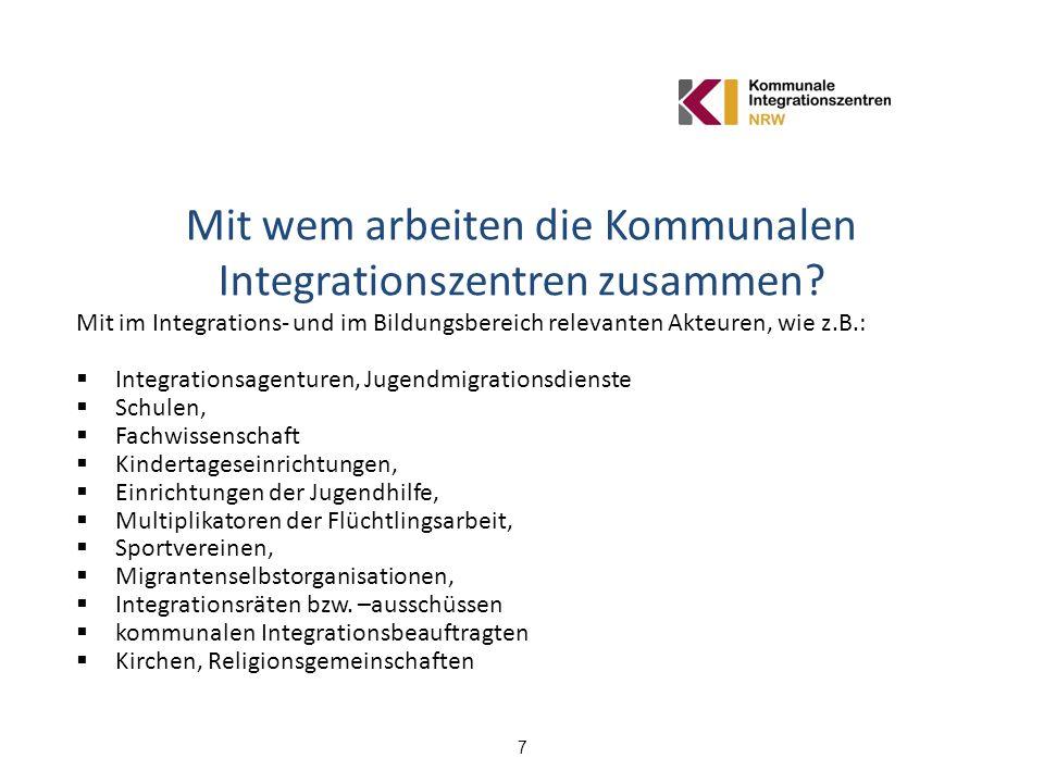 Mit wem arbeiten die Kommunalen Integrationszentren zusammen