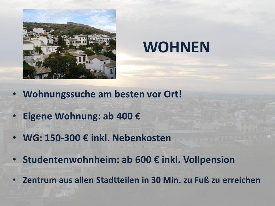WOHNEN Wohnungssuche am besten vor Ort! Eigene Wohnung: ab 400 €