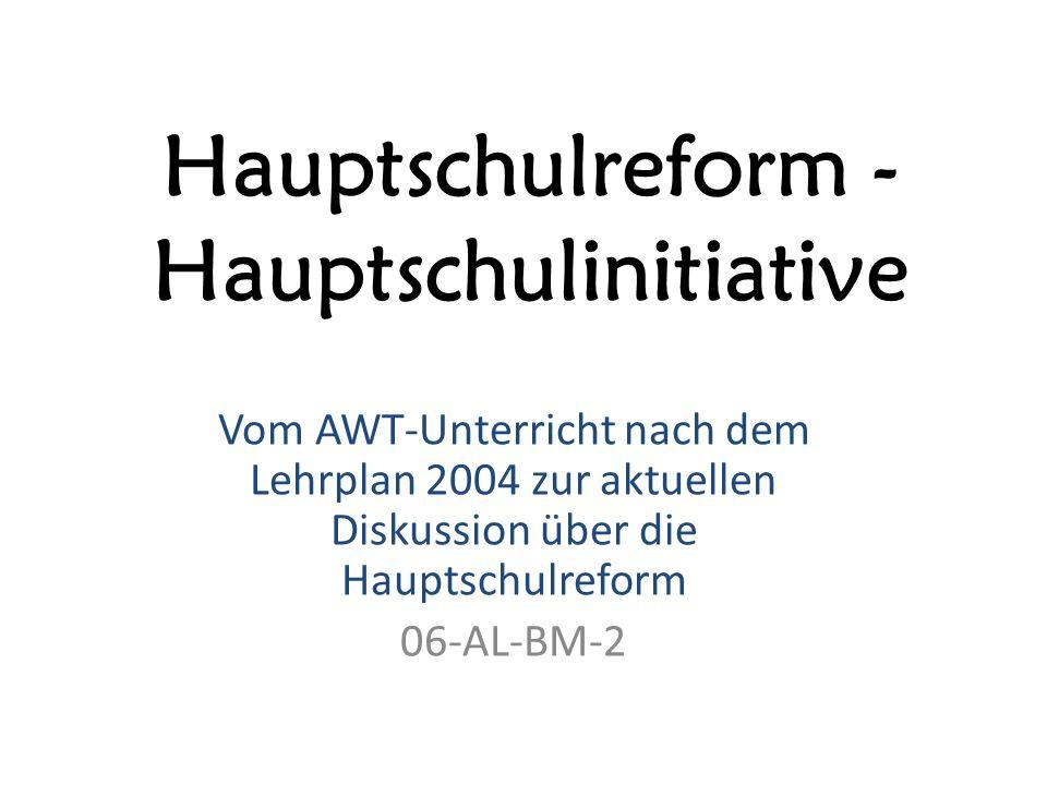 Hauptschulreform - Hauptschulinitiative