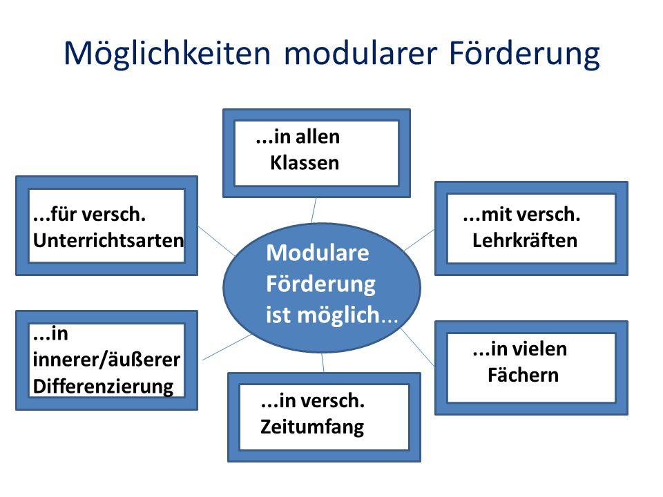 Möglichkeiten modularer Förderung