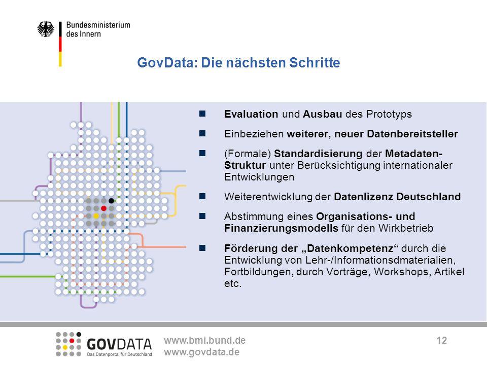GovData: Die nächsten Schritte