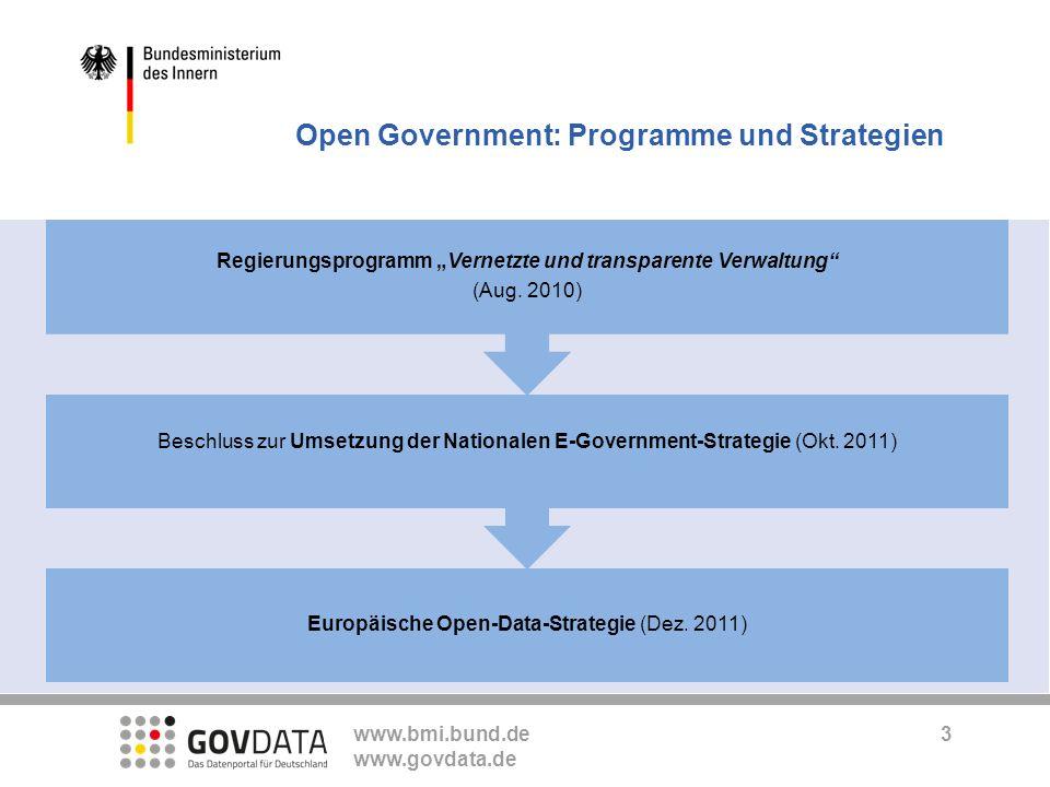 """Regierungsprogramm """"Vernetzte und transparente Verwaltung"""