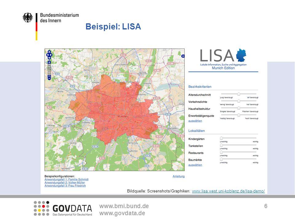 Beispiel: LISA Bildquelle: Screenshots/Graphiken: www.lisa.west.uni-koblenz.de/lisa-demo/ 6