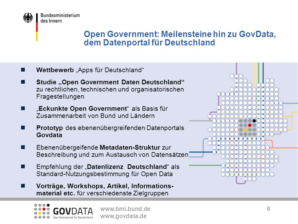 Open Government: Meilensteine hin zu GovData, dem Datenportal für Deutschland