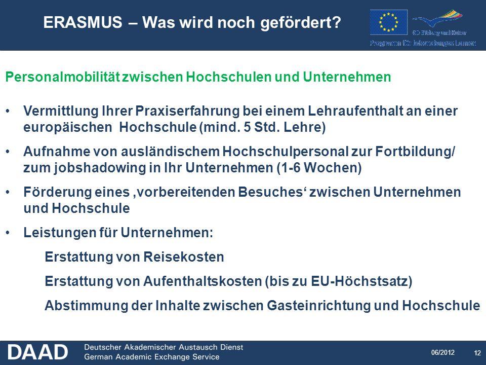 ERASMUS – Was wird noch gefördert