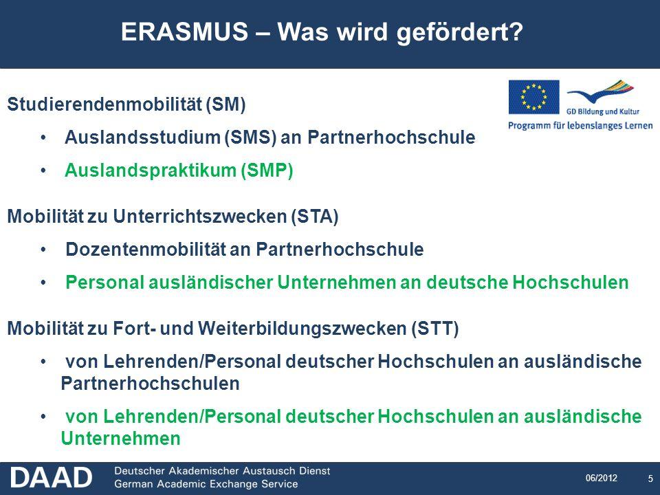 ERASMUS – Was wird gefördert