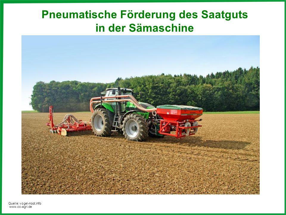 Pneumatische Förderung des Saatguts