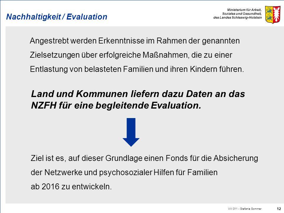 Nachhaltigkeit / Evaluation