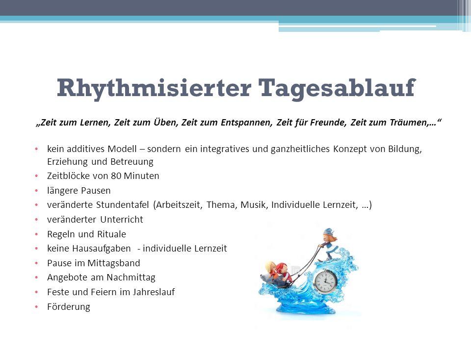 Rhythmisierter Tagesablauf