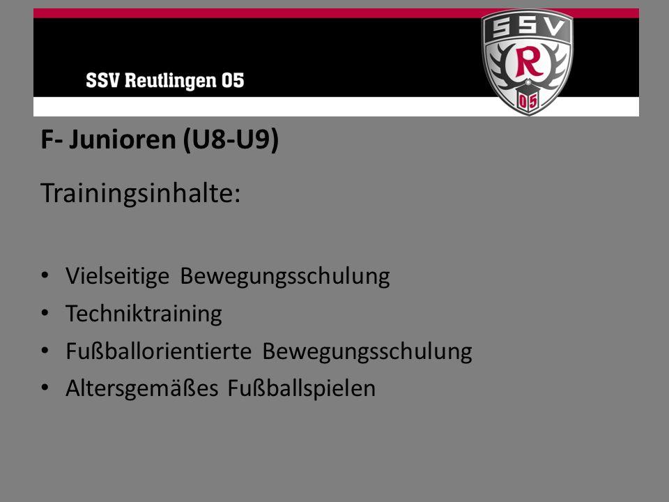 F- Junioren (U8-U9) Trainingsinhalte: Vielseitige Bewegungsschulung