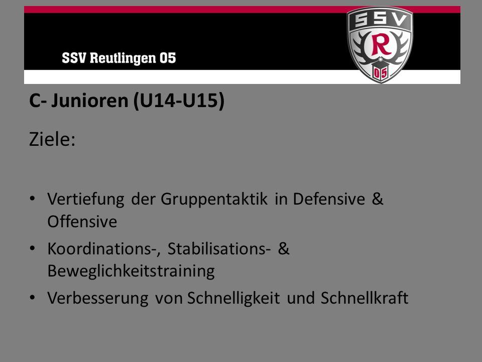 C- Junioren (U14-U15) Ziele: