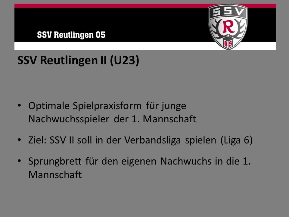 SSV Reutlingen II (U23) Optimale Spielpraxisform für junge Nachwuchsspieler der 1. Mannschaft.