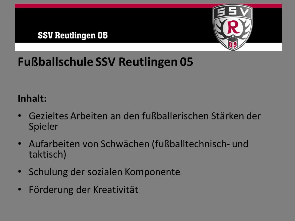 Fußballschule SSV Reutlingen 05
