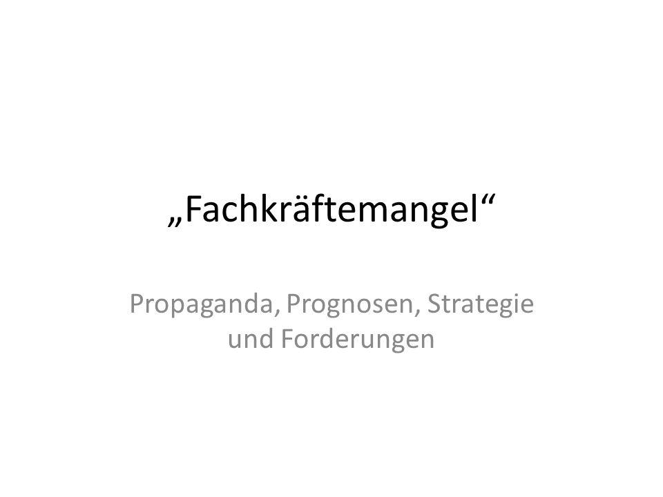 Propaganda, Prognosen, Strategie und Forderungen