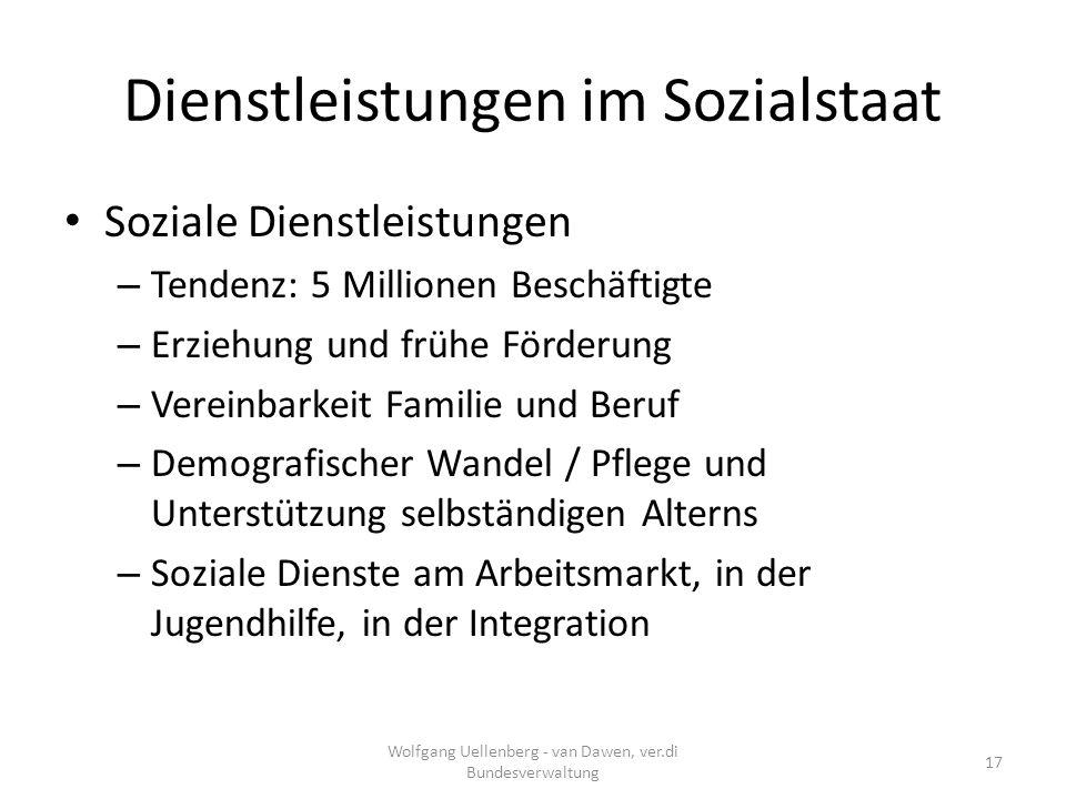 Dienstleistungen im Sozialstaat