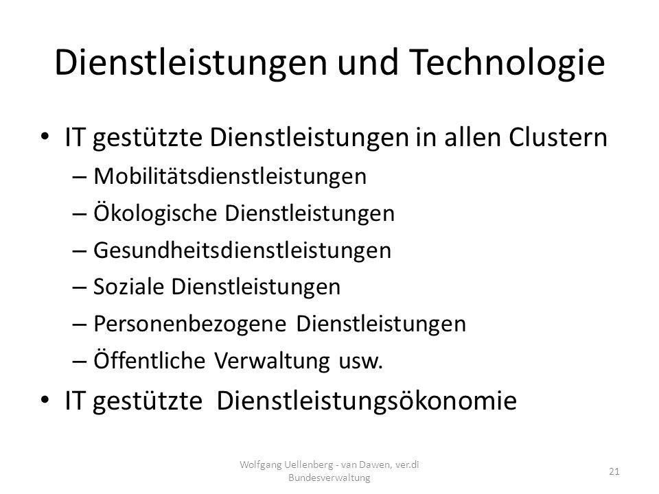 Dienstleistungen und Technologie