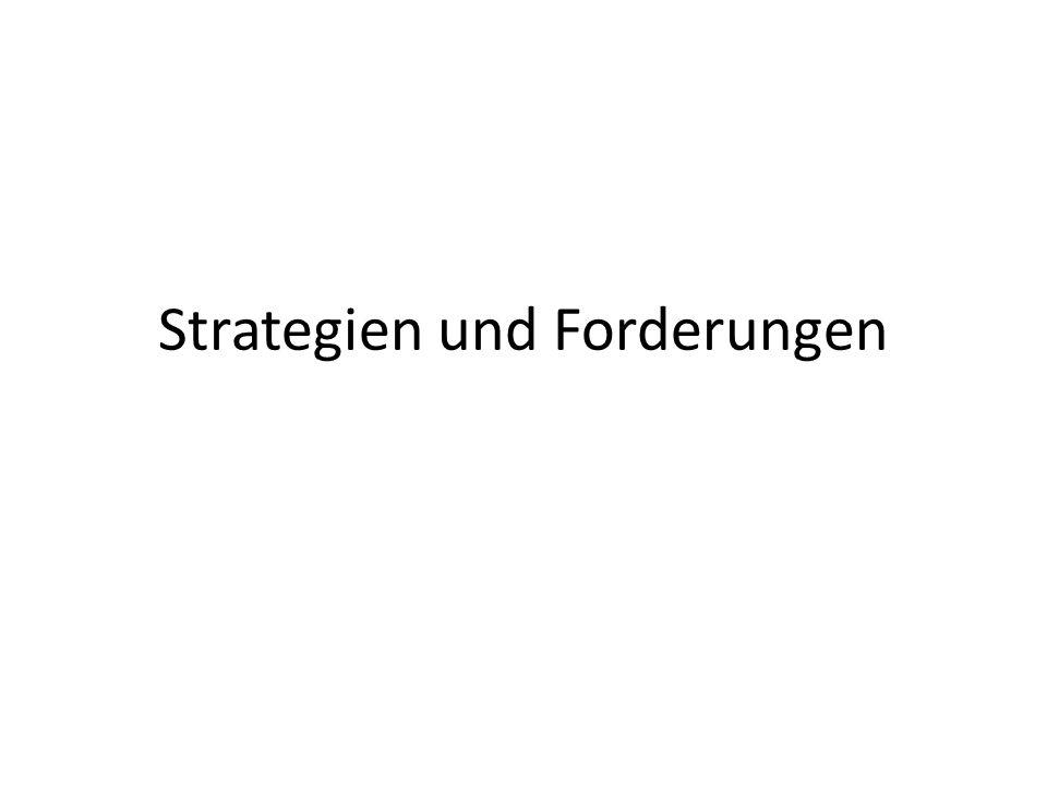 Strategien und Forderungen