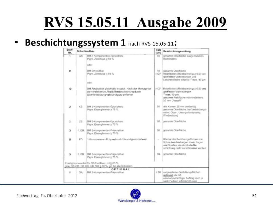 RVS 15.05.11 Ausgabe 2009 Beschichtungssystem 1 nach RVS 15.05.11: