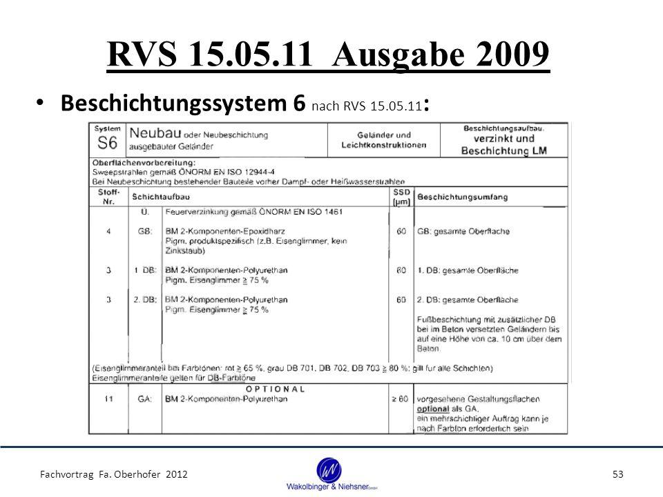 RVS 15.05.11 Ausgabe 2009 Beschichtungssystem 6 nach RVS 15.05.11:
