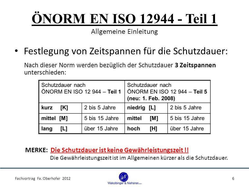 ÖNORM EN ISO 12944 - Teil 1 Allgemeine Einleitung
