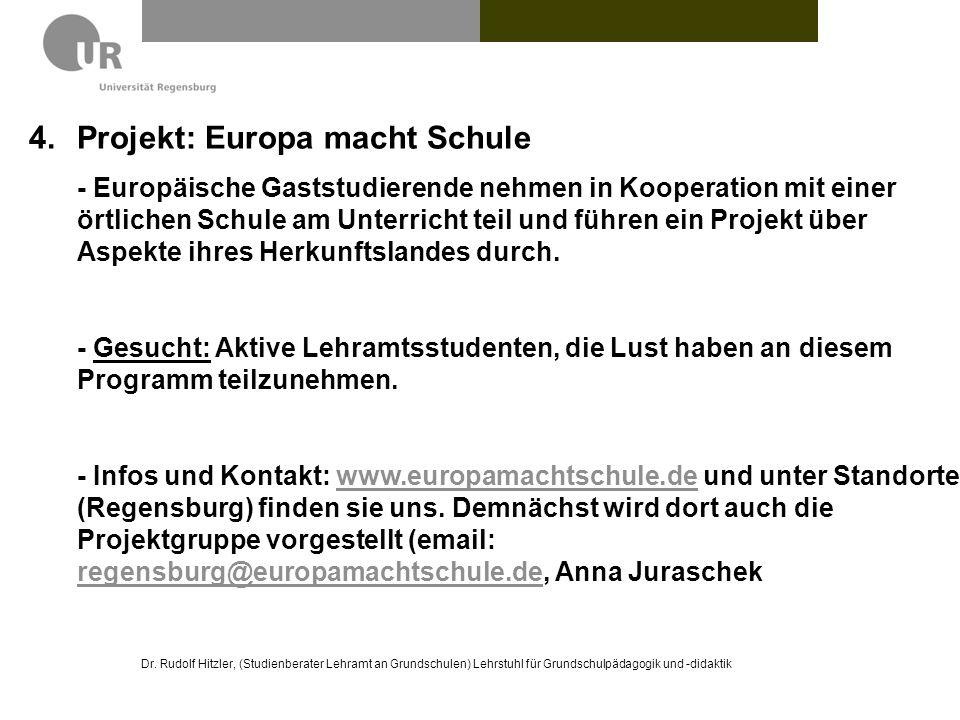 Projekt: Europa macht Schule