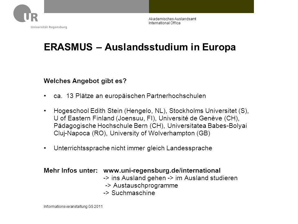 ERASMUS – Auslandsstudium in Europa