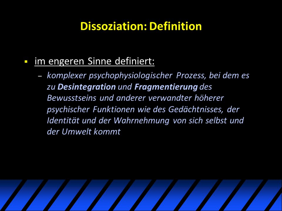 Dissoziation: Definition