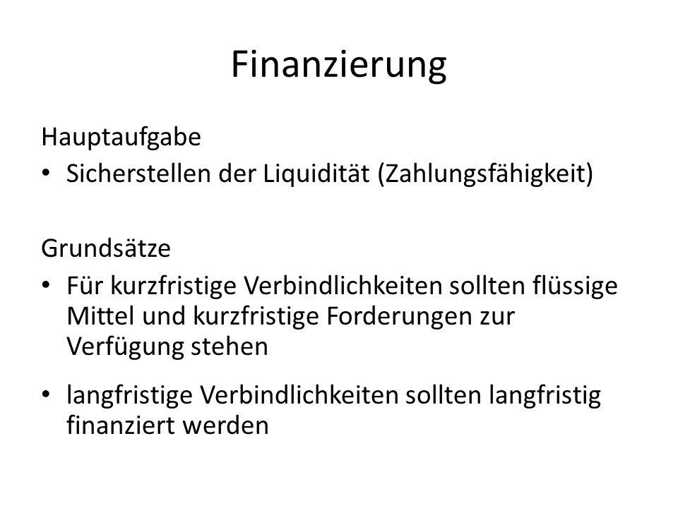 Finanzierung Hauptaufgabe