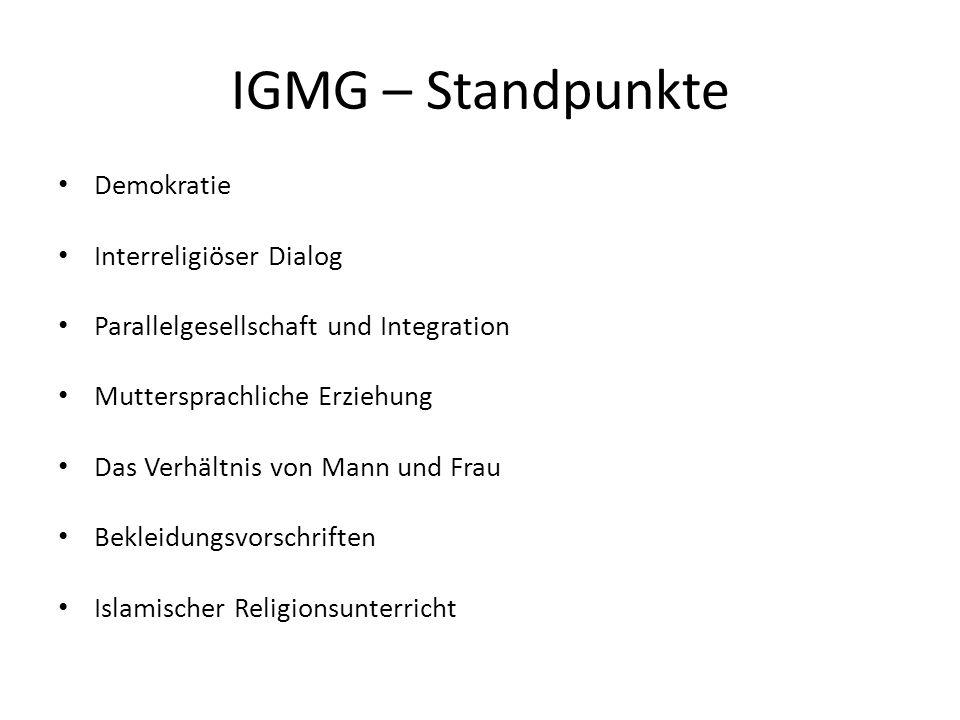 IGMG – Standpunkte Demokratie Interreligiöser Dialog