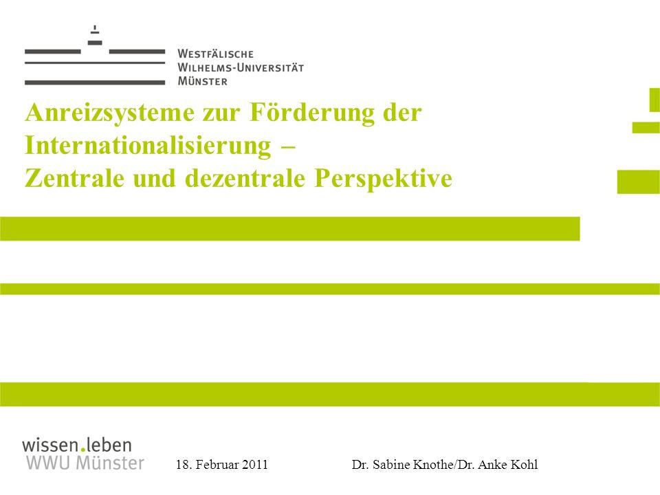 Anreizsysteme zur Förderung der Internationalisierung – Zentrale und dezentrale Perspektive