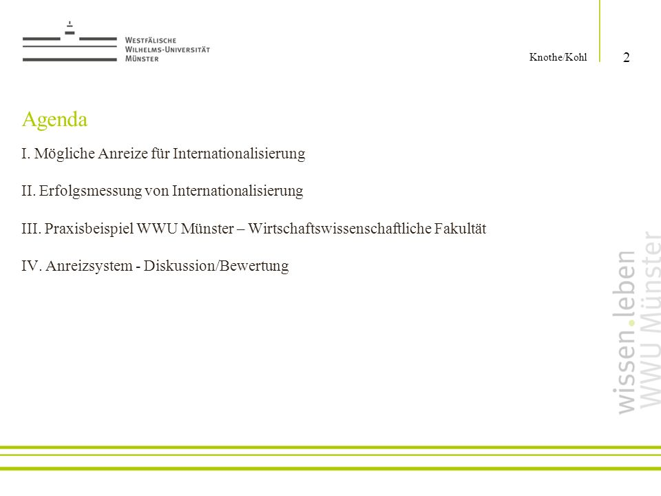Knothe/Kohl Agenda.