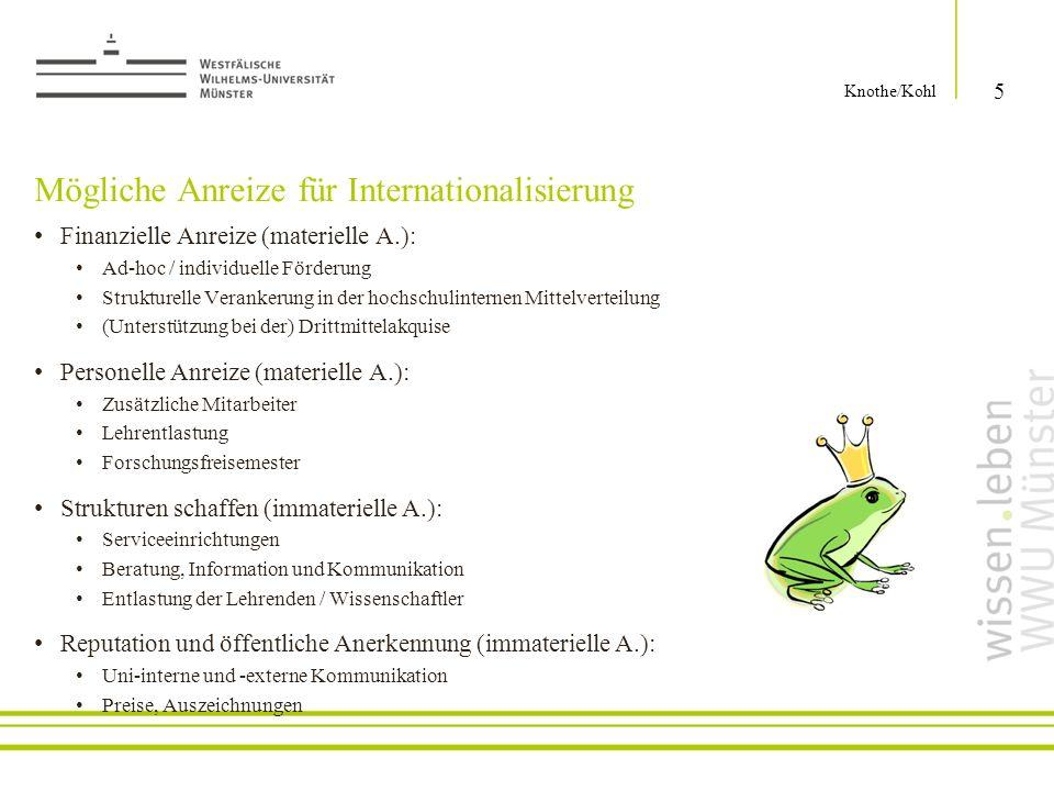 Mögliche Anreize für Internationalisierung
