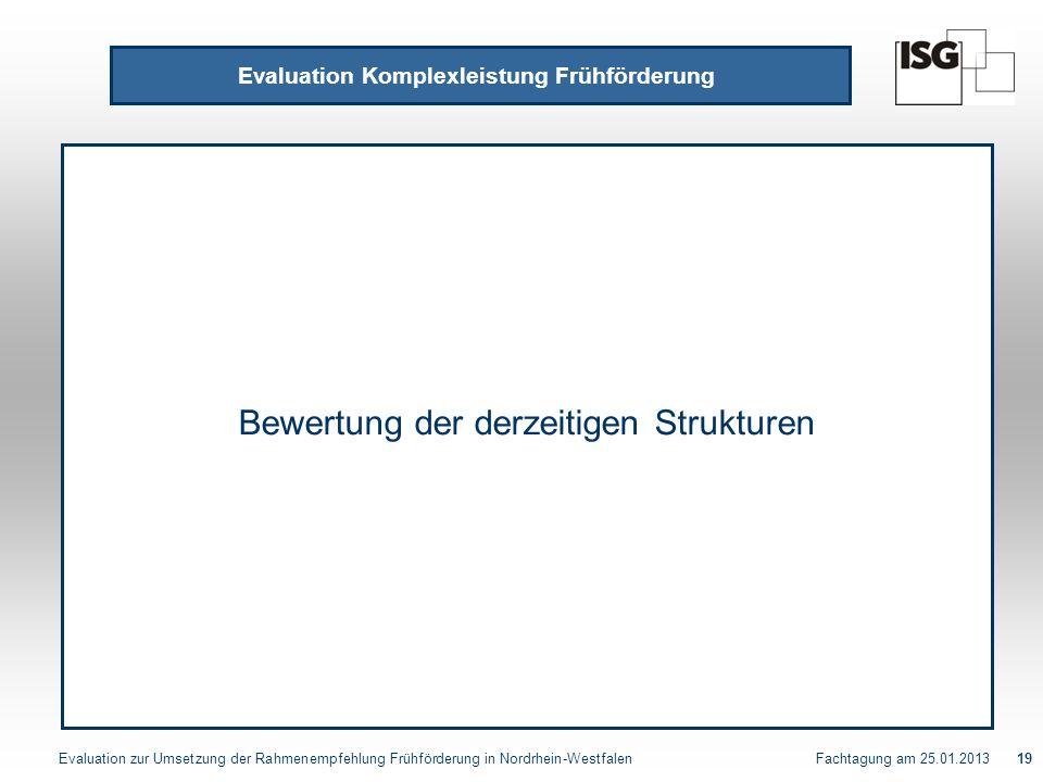 Evaluation Komplexleistung Frühförderung