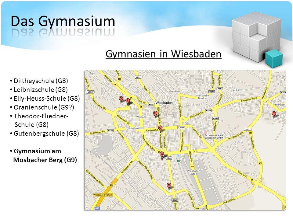 Das Gymnasium Gymnasien in Wiesbaden Diltheyschule (G8)