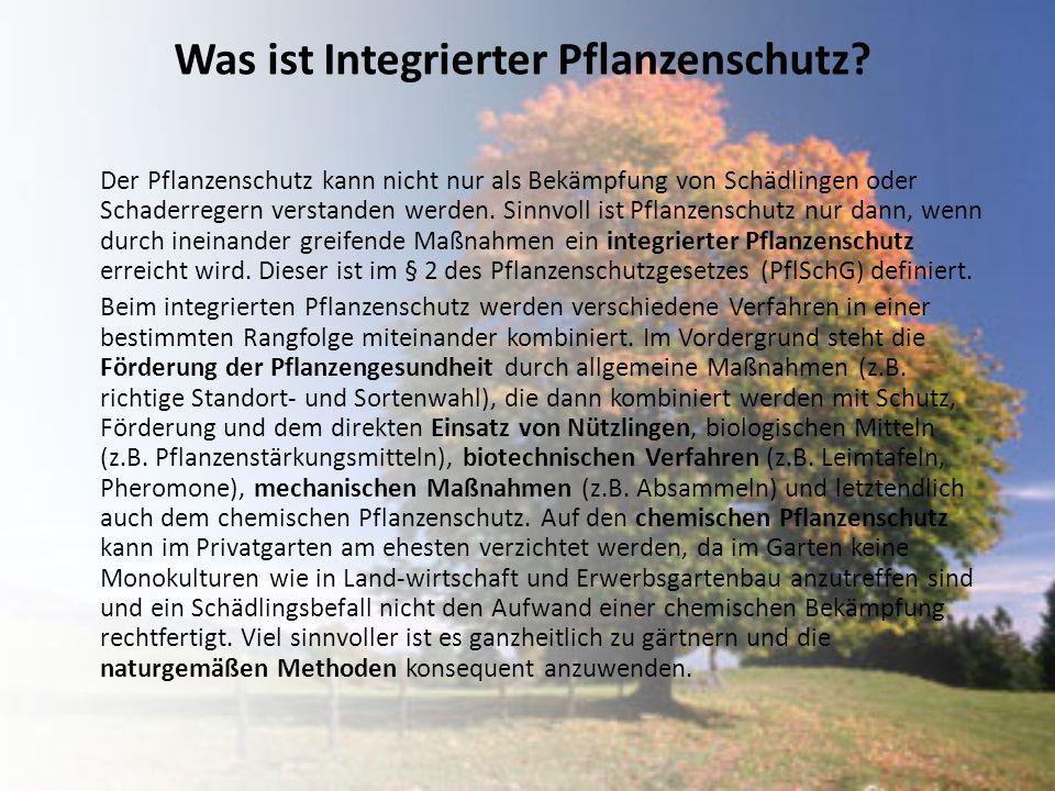 Was ist Integrierter Pflanzenschutz
