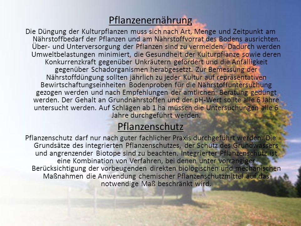 Pflanzenernährung Pflanzenschutz