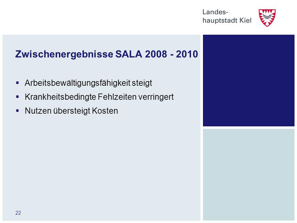 Zwischenergebnisse SALA 2008 - 2010