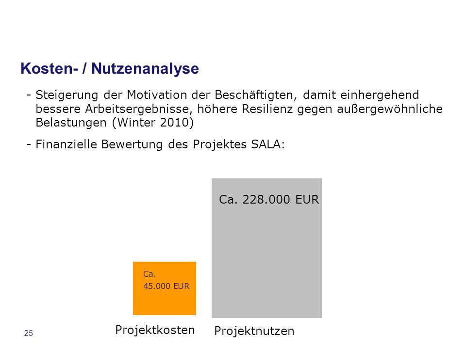 Kosten- / Nutzenanalyse