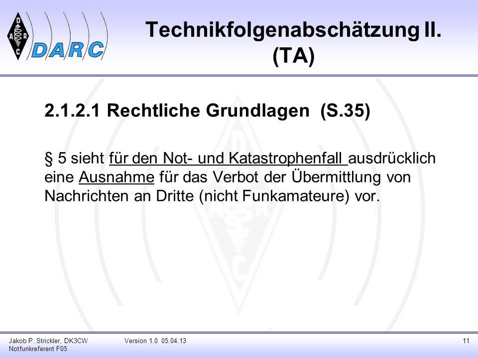 Technikfolgenabschätzung II. (TA)
