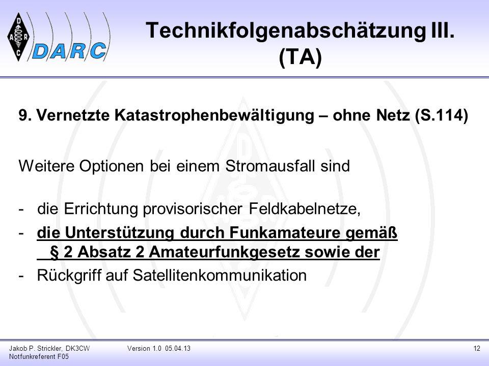 Technikfolgenabschätzung III. (TA)