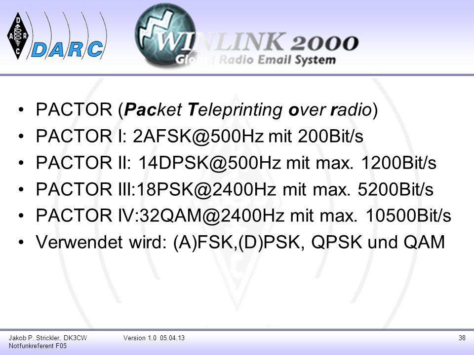 PACTOR (Packet Teleprinting over radio)